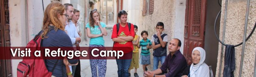 Visit a refugee camp in Palestine