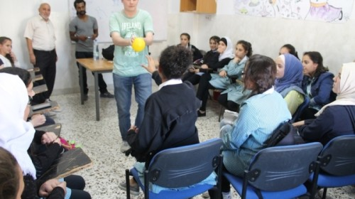 English Club for Girls in Hebron