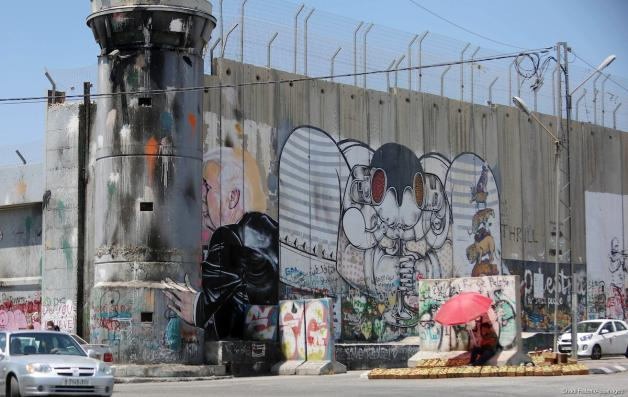 What do internationals notice when they are in Palestine?
