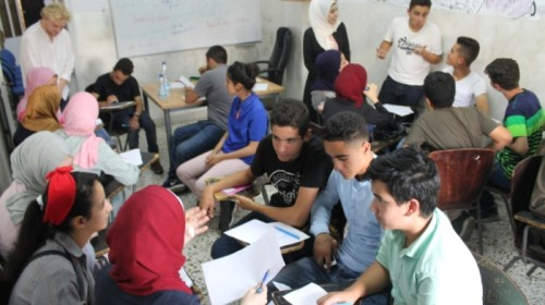 The Palestinian Center organises English classes for children